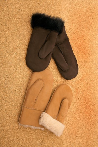 Fell-Fausthandschuhe ohne Bund