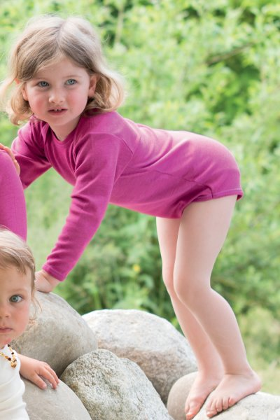 Wolle-Seide Body Langarm