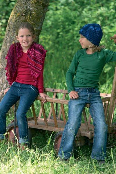 Kindershirt einfarbig Langarm