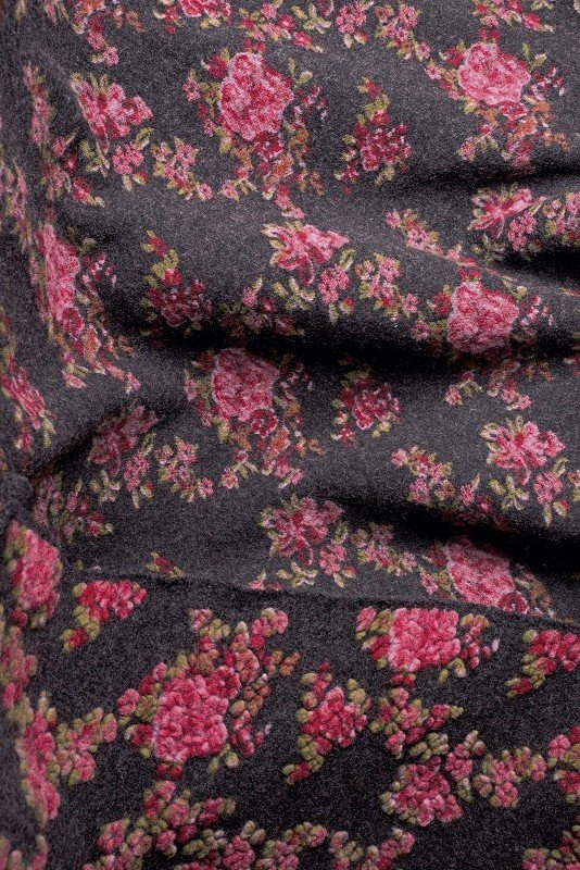 Musterwalk Rose anthrazit/rot
